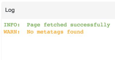 """公開前の記事にはアクセス出来ないので、""""No metatags found.""""というエラーが出る"""