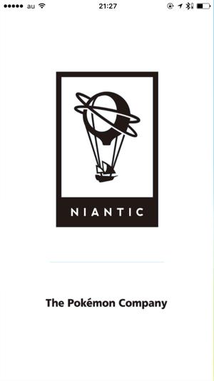 ポケモンGOの起動時に表示される、ナイアンティック社のロゴ。