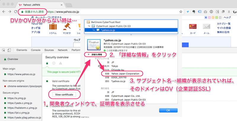 DV-SSLとOV-SSLを区別する方法